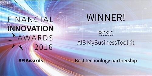 Financial innovation award winning logo - website